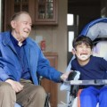 grandfather with handicap child